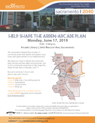 Arden-Arcade Community Plan Area Meeting