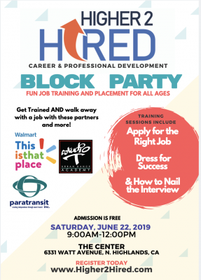 Higher 2 Hired Block Party!