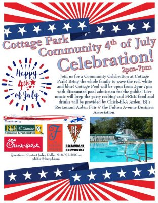 4th of July Celebration at Cottage Pool