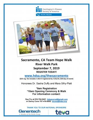 Team Hope Walk: Huntington's Disease Northern CA Chapter
