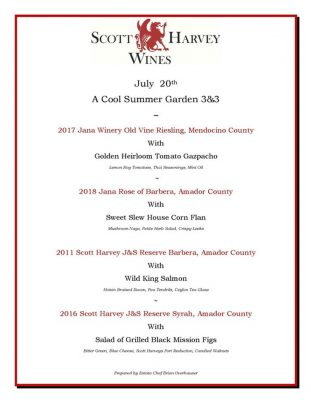 July 3-and-3 Wine and Food Pairing