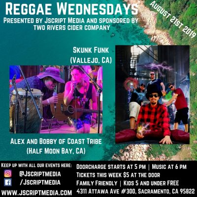 Reggae Wednesday with Skunk Funk and Coast Tribe