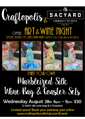 SacYard Tap House and Craftopolis Art and Wine Night