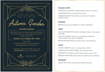 Autumn Rooftop Garden Dinner