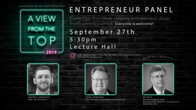 A View From The Top: Entrepreneur Panel 2019