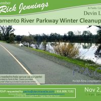 Sacramento River Parkway Winter Cleanup