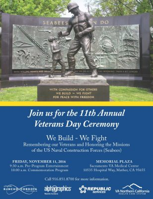 Rancho Cordova 11th Annual Veterans Day Ceremony
