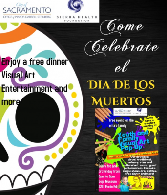 Dia de los Muertos Youth Art Pop Up