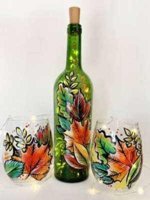 Wine Bottle and Glass Decorating
