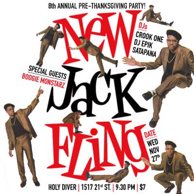 New Jack Fling Pre-Thanksgiving Party