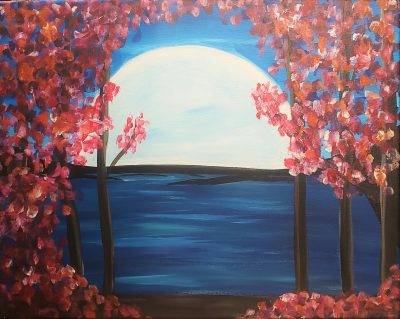 Paint and Sip: Moonlight Flowers