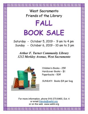 West Sacramento Friends of the Library Fall Book Sale