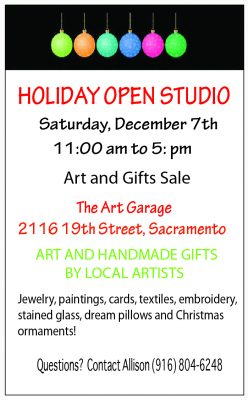 Holiday Gift Sale at The Art Garage