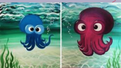 Paint Nite: Ollie and Ellie the Octopus Partner Painting