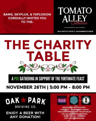 The Charity Table: A Pre-Gathering in Support of Fortunate Feast