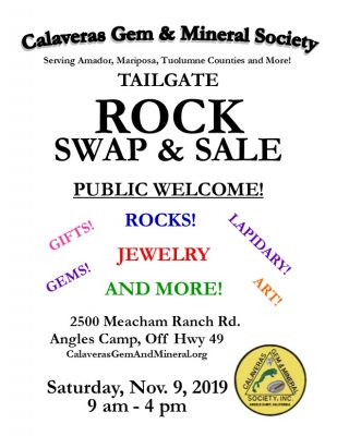 Tailgate Rock Swap and Sale