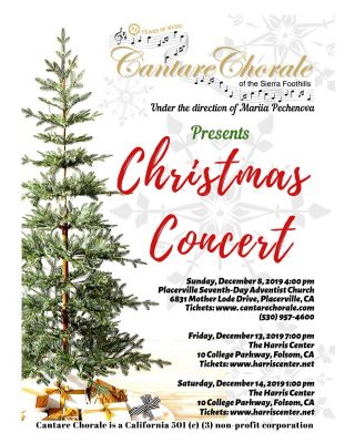 Cantare Chorale's Christmas Concert (Placerville Seventh-Day Adventist Church)