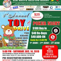 Elk Grove Helping Hand Toy Drive and Charity Poker