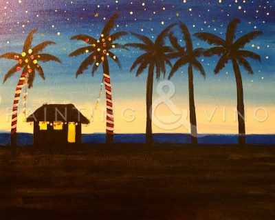 Paint and Vino: Cali Christmas