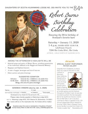 Robert Burns Birthday Celebration