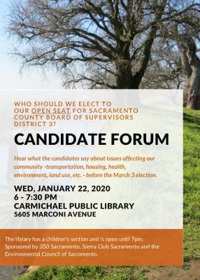 Candidate Forum for District 3 Board of Supervisors