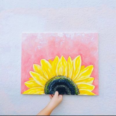 Mimosa and Paint