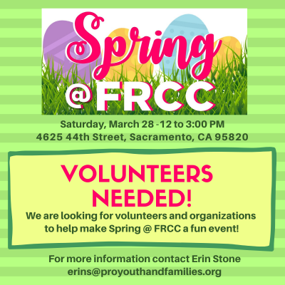 Spring at Fruit Ridge Community Collaborative (Cancelled)