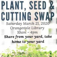 Plant, Seed, and Cutting Swap (Cancelled)