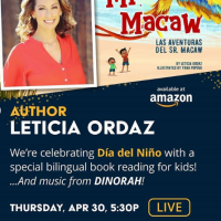 Dia del Nino Reading with Leticia Ordaz (Online)