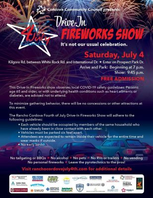 Rancho Cordova Drive-In Fireworks (Cancelled)