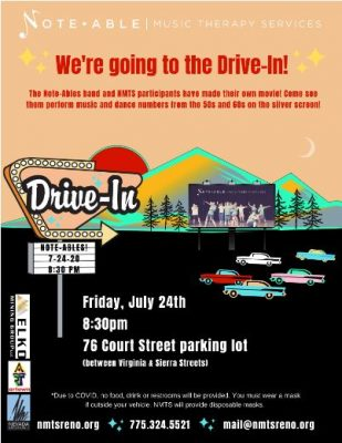Note-Able Music Therapy Services Drive-In Show Event