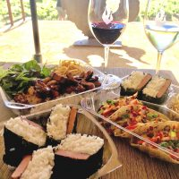 Kado's Asian Grill and Lucy's Bones Acoustic Music at Matchbook Winery