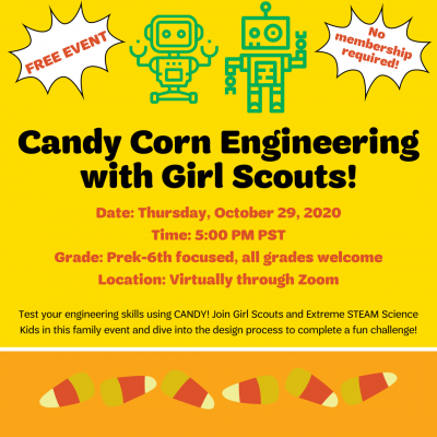 Candy Corn Engineering with Girl Scouts