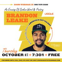 An Evening of Spoken Word with Brandon Leake of America's Got Talent