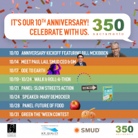 350 Sacramento's 10th Anniversary Celebration