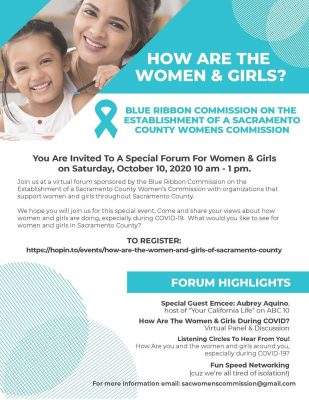 How Are The Women and Girls of Sacramento County? Forum