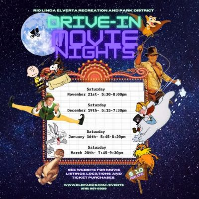 Rio Linda Elverta Recreation and Park District Drive-In Movie Nights