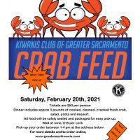 Kiwanis Club of Greater Sacramento Crab Feed 2021