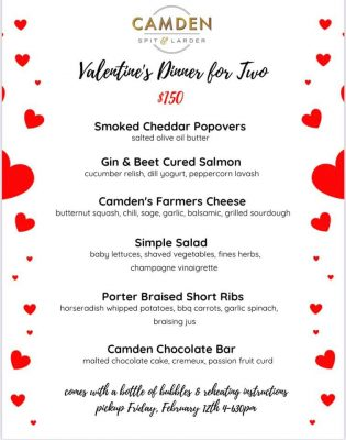 Camden Spit and Larder Valentine's Day Takeout for Two