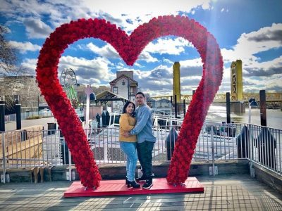 Old Sacramento Waterfront Heart Arch