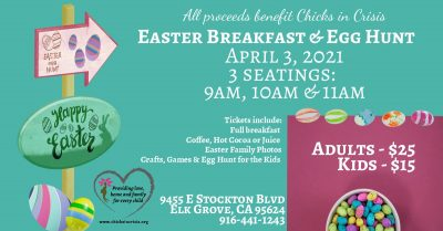 Chicks in Crisis Easter Breakfast and Egg Hunt