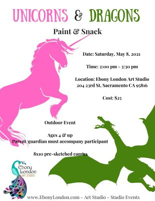 Unicorns and Dragons Paint and Snack