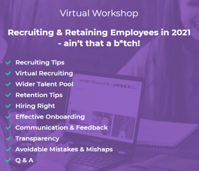 Recruiting and Retaining Employees in 2021 Webinar