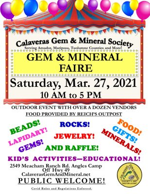 Calaveras Gem and Mineral Society Rock, Gem and Jewelry Faire