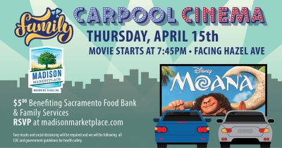 Drive-in Movie at Madison Marketplace: Moana